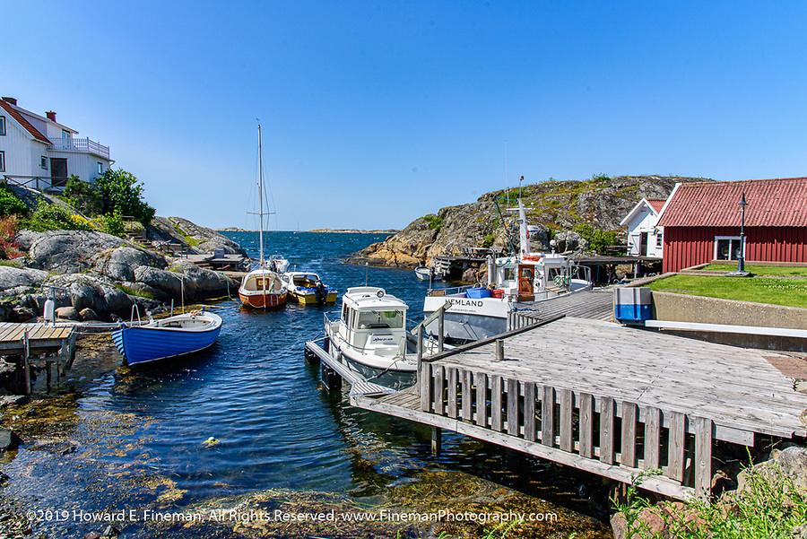 Small cove nestled in Kladesholmen, Tjorn, Sweden, about 2 hours drive from Gothenburg.