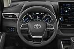 Car pictures of steering wheel view of a 2021 Toyota Highlander Premium-Plus 5 Door SUV Steering Wheel