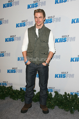 LOS ANGELES, CA - DECEMBER 01: Derek Hough at KIIS FM's 2012 Jingle Ball at Nokia Theatre L.A. Live on December 1, 2012 in Los Angeles, California. Credit: mpi21/MediaPunch Inc.