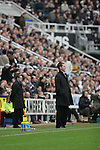 Newcastle United 2 Watford 1, 16/12/2006. St James Park, Premier League. Newcastle United take on Watford (yellow shirts) in a Premiership match at St. James' Park, Newcastle. Both teams were struggling near the bottom of the table with the newly-promoted visitors occupying one of the three relegation at the time of the match. Newcastle won by 2 goals to 1, both being scored by Obafemi Martins. Hameur Bouazza had equalised before United's late winner. Photo shows the opposing managers Aidy Boothroyd and Glenn Roeder on the touchline. Photo by Colin McPherson.