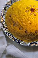 """Europe/France/Ile-de-France/Paris: Restaurant """"La Mansouria"""" - Service des couscous - Couscous safran  // Europe / France / Ile-de-France / Paris: Restaurant """"La Mansouria"""" - Couscous service - Saffron couscous"""