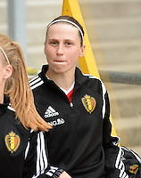 20150523 - SINT-TRUIDEN ,  BELGIUM : Belgian Heleen Jaques pictured during the friendly soccer game between the Belgian Red Flames and Norway, a preparation game for Norway for the Women's 2015 World Cup, Saturday 23 May 2015 at Staaien in Sint-Truiden , Belgium. PHOTO DAVID CATRY