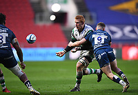 1st January 2021; Ashton Gate Stadium, Bristol, England; Premiership Rugby Union, Bristol Bears versus Newcastle Falcons; Philip van der Walt of Newcastle Falcons offloads out of the tackle from Andy Uren of Bristol Bears