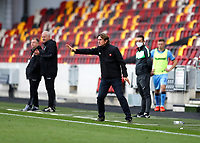 17th October 2020; Brentford Community Stadium, London, England; English Football League Championship Football, Brentford FC versus Coventry City; Brentford Manager Thomas Frank shouting instructions to this players from the touchline