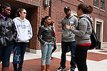 Jumpstart collge fair event for graduates of Headstart program students taking tour of college campus and enouraged to think of college for their future
