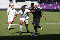 Orlando, Florida - Monday January 15, 2018: Andre Morrison and Mohamed Thiaw. Match Day 2 of the 2018 adidas MLS Player Combine was held Orlando City Stadium.
