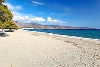 The beach Galida of Karystos in Evia, Greece
