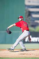 AZL Angels relief pitcher Mitchell Traver (90) delivers a pitch during a game against the AZL Indians on August 7, 2017 at Tempe Diablo Stadium in Tempe, Arizona. AZL Indians defeated the AZL Angels 5-3. (Zachary Lucy/Four Seam Images)