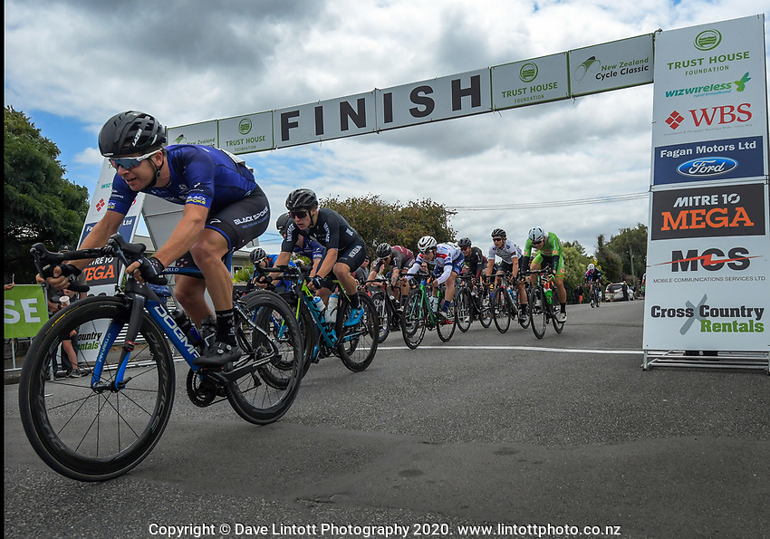 Aaron Gate (New Zealand/Black Spoke Pro Cycling Academy) finishes third during stage three of the NZ Cycle Classic UCI Oceania Tour (Martinborough circuit) in Wairarapa, New Zealand on Friday, 17 January 2020. Photo: Dave Lintott / lintottphoto.co.nz