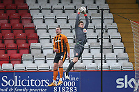 Jamie Cumming of Stevenage denies Tom Eaves of Hull City during Stevenage vs Hull City, Emirates FA Cup Football at the Lamex Stadium on 29th November 2020