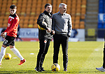 St Johnstone v Clyde…17.04.21   McDiarmid Park   Scottish Cup<br />Clyde boss Danny Lennon with assistant and former saintee Allan Moore<br />Picture by Graeme Hart.<br />Copyright Perthshire Picture Agency<br />Tel: 01738 623350  Mobile: 07990 594431