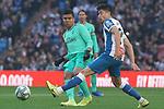 Real Madrid's Carlos Henrique Casemiro (l) and RCD Espanyol's Marc Roca during La Liga match. December 7,2019. (ALTERPHOTOS/Acero)