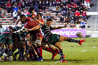 26th September 2020; Toulon, France; European Challenge Cup Rugby, semi-final; RC Toulon versus Leicester Tigers;  Ben Youngs (Leicester) kicks for field position