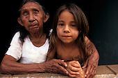 Altamira, Amazon, Brazil. Xipaya Indian, original inhabitants of Altamira, great grand mother and great grand daughter.