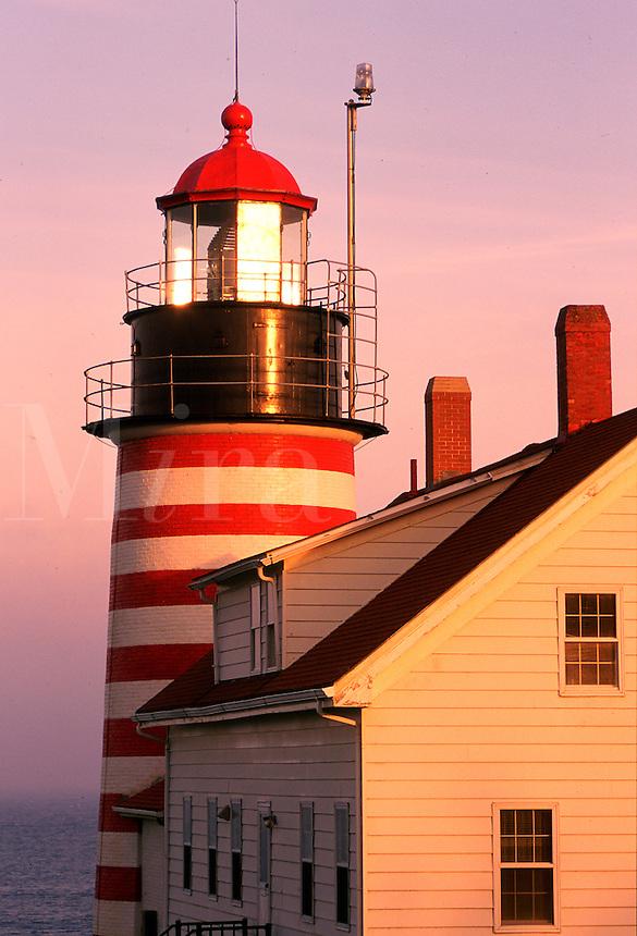 Lighthouse, West Quoddy Head, Lubec, Maine