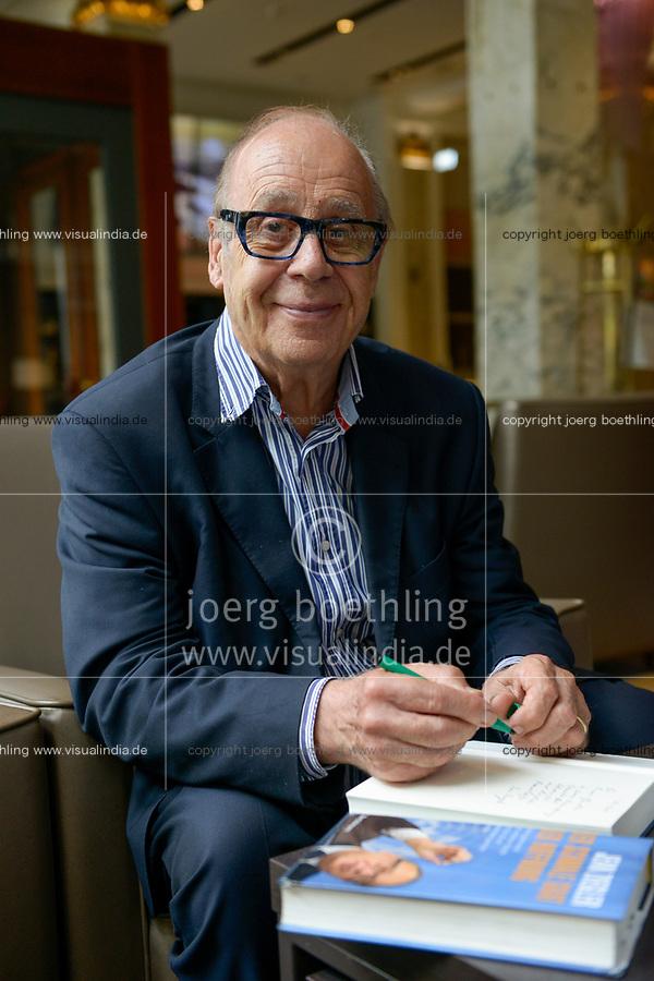 GERMANY, Hamburg, swiss writer and globalization critic Jean Ziegler / DEUTSCHLAND, Hamburg, Reichshof, Schweizer Buchautor und Globalisierungskritiker Jean Ziegler, 29.6.2017