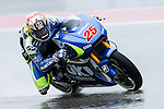 Maverick Vinales (25) in action during the first practice session of the Red Bull Grand Prix of the Americas race at the Circuit of the Americas racetrack in Austin,Texas.