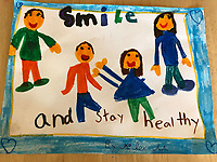 Smile and stay health. Alexandra Mason. Grade 1b. Yarmouth Maine