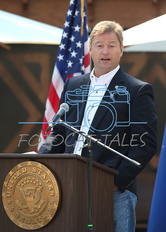 U.S. Sen. Dean Heller speaks at the 22nd annual Lake Tahoe Summit, at Sand Harbor State Park, near Incline Village, Nev., on Tuesday, Aug. 7, 2018.<br /> Photo by Cathleen Allison/Nevada Momentum