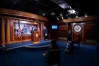 United States Senate Minority Leader Chuck Schumer (Democrat of New York) listens during a news conference with United States Senator Mazie Hirono (Democrat of Hawaii) at the United States Capitol in Washington D.C., U.S., on Tuesday, June 9, 2020.  Credit: Stefani Reynolds / CNP/AdMedia