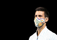 15th November 2020, O2, London, England;  Novak Djokovic of Serbia is seen during the presentation of his ATP, Tennis Mens World No. 1 trophy at the ATP World Tour Finals 2020 in London