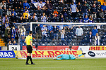 2-0, goal scored by Innes Cameron of Kilmarnock (not pictured) from the penalty spot. Kilmarnock 2 Ayr United 0, Scottish Championship, August 2nd 2021. Following Kilmarnock's relegation in 2020-21, the first game of the new season is the Ayreshire Derby, the first league match between the teams in 28 years. Due to relaxation of Covid restrictions the match was played in front of a crowd of 3200 Kilmarnock fans. The game was shown live on BBC Scotland.