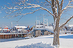 A winter morning in Ogunquit, ME, USA
