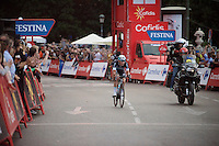 After winning the final stage in the Giro just a few months earlier, Iljo Keisse (BEL/Etixx-QuickStep) tries for a repeat  in the penultimate lap in the final stage of this Vuelta<br /> <br /> stage 21: Alcala de Henares - Madrid (98km)<br /> 2015 Vuelta à Espana