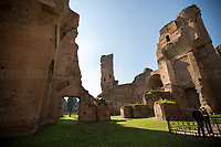 """Rome, 03/03/2019. Visiting and documenting le Terme Di Caracalla (the Bath Of Caracalla, Thermae Antonianae). «[…] The Thermae Antonianae, one of the largest and best preserved examples of an ancient spa complex, was constructed under the auspices of the Emperor Caracalla in the southern part of the city. The building was finished in 216 A.D. and exhibits the rectangular plan typical of Imperial spa centres. The spa itself was not simply a place for bathing, sport and health, it was also a place of study and for relaxing. […] Around the centre of the structure the various parts of the spa are found in sequential order: the """"Calidarium"""", the """"Tepidarium"""", the """"Frigidarium"""" and the """"Natatio"""". There are also other zones and areas to be found around the two gymnasiums. […] Written manuscripts refer to enormous marble columns, flooring made of coloured marble, mosaics of glass and marble on the walls, painted stuccos and hundreds of statues located in niches and placed centrally in the rooms themselves. The water system was made possible by the construction of a special duct from the main aqueduct called the Aqua Antoniana […]» (1.).<br /> This visit was possible thanks to the company of Artist and Curator, Flavio Marzadro and the Italian State initiative: """"Domeniche al Museo"""" (Sunday at the Museum, 2.).<br /> <br /> Footnotes & Links:<br /> 1. (Source, Coopculture.it ENG & ITA) https://www.coopculture.it/en/heritage.cfm?id=6 & https://www.coopculture.it/heritage.cfm?id=6<br /> 2. http://musei.beniculturali.it/en/eventi/domenicalmuseo<br /> (Source, Britannica.com, ENG) https://www.britannica.com/topic/Baths-of-Caracalla<br /> (Source, Wikipedia.org, ENG & ITA) https://en.wikipedia.org/wiki/Baths_of_Caracalla & https://it.wikipedia.org/wiki/Terme_di_Caracalla"""