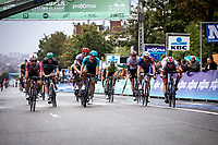 Caleb Ewan (AUS/Lotto Soudal) wins the bunch sprint ahead of Pascal Ackermann (GER/Bora Hansgrohe) and Jasper Philipsen (BEL/UAE) <br /> <br /> 99th Brussels Cycling Classic 2019<br /> One Day Race: Brussels > Brussels 189.4km<br /> <br /> ©kramon