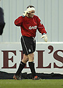 26/12/2004  Copyright Pic : James Stewart.File Name : jspa01_falkirk_v_airdrie.FALKIRK KEEPER ALAN FERGUSON GETS HIS HEAD BANDAGED AFTER A CLASH WITH ALAN GOW...Payments to :.James Stewart Photo Agency 19 Carronlea Drive, Falkirk. FK2 8DN      Vat Reg No. 607 6932 25.Office     : +44 (0)1324 570906     .Mobile   : +44 (0)7721 416997.Fax         : +44 (0)1324 570906.E-mail  :  jim@jspa.co.uk.If you require further information then contact Jim Stewart on any of the numbers above.........