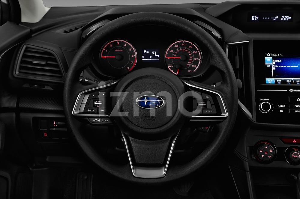 Car pictures of steering wheel view of a 2017 Subaru Impreza CVT 5 Door Hatchback Steering Wheel