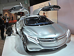 November 30, 2011, Tokyo, Japan - Mercedes-Benz F125 Concept is exhibited during a press preview of the Tokyo Motor Show on Wednesday, November 30, 2011. ..The Tokyo Motor Show opened to the press Wednesday as Japanese automakers unveiled a bevy of electric cars and other green vehicles at a much smaller venue in central Tokyo, to which the show moved from the nations largest exhibition hall in neighboring Chiba prefecture after 24 years. A total of 176 brands from 13 countries and regions participated in the show. The number of foreign automakers has increased to 24 from previous nine. Out of 398 models, 52 will be shown for the very first time. An estimated 800,000 visitors are expected to attend the week-long exhibition, compared with 1.5 million in 2005, according to the organizers.(Photo by Natsuki Sakai/AFLO) [3615] -mis-.