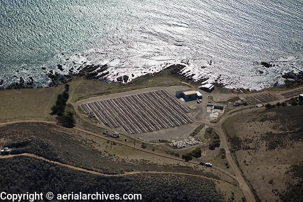 aerial photograph of the Abalone Farm, Cayucos, San Luis Obispo County, California