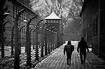 Visitors at Auschwitz I concentration camp Sunday Dec 28 2014. Auschwitz concentration camp was a network of German Nazi concentration camps and extermination camps built and operated by the Third Reich in Polish areas annexed by Nazi Germany during World War II, the camp was liberated on January 27, 1945 by Soviet troops. Photo By Eyal Warshavsky