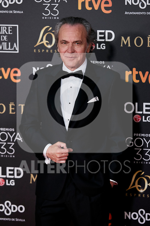Jose Coronado attends to 33rd Goya Awards at Fibes - Conference and Exhibition  in Seville, Spain. February 02, 2019. (ALTERPHOTOS/A. Perez Meca)