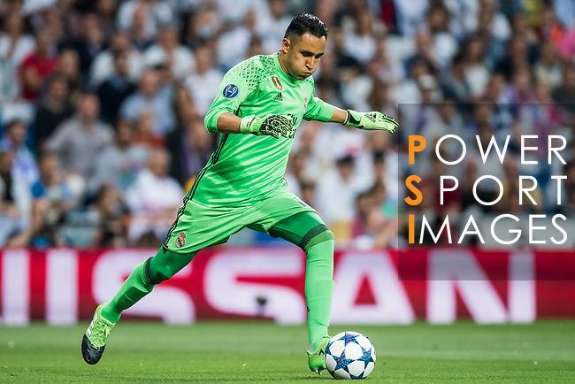 Goalkeeper Keylor Navas of Real Madrid in action during their 2016-17 UEFA Champions League Semifinals 1st leg match between Real Madrid and Atletico de Madrid at the Estadio Santiago Bernabeu on 02 May 2017 in Madrid, Spain. Photo by Diego Gonzalez Souto / Power Sport Images