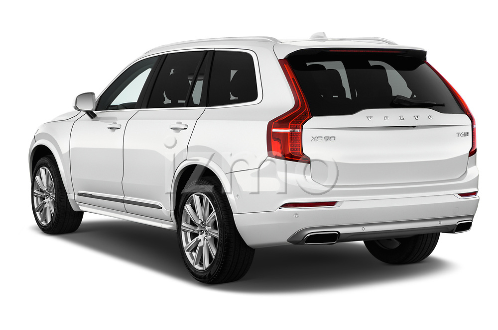 Car pictures of rear three quarter view of a 2018 Volvo XC90 4WD Inscription 5 Door SUV angular rear
