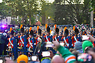 October 23, 2021; The Irish Guard leads the band into Notre Dame Stadium on a football game day, 2021. (photo by Matt Cashore)