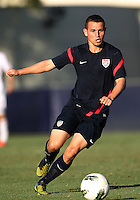 MIAMI, FL - DECEMBER 21, 2012:  Luis Miguel Gil of the USA MNT U20 during a closed scrimmage with the Venezuela U20 team, on Friday, December 21, 2012, At the FIU soccer field in Miami.  USA won 4-0.