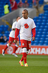Wales's Robert Earnshaw warming up..Wales v Norway Vauxhall international friendly match at the Cardiff City Stadium in South Wales..Editorial use only.
