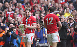 Try scorer Alex Cuthbert is all smiles after Wales secure the 6 Nations championship and Grand Slam after victory over France..RBS 6 Nations 2012.Wales v France.Millennium Stadium.17.03.12..CREDIT: STEVE POPE-SPORTINGWALES