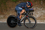 Richard Carapaz (ECU) Ineos Grenadiers in action during Stage 1 of La Vuelta d'Espana 2021, a 7.1km individual time trial around Burgos, Spain. 14th August 2021.    <br /> Picture: Luis Angel Gomez/Photogomezsport | Cyclefile<br /> <br /> All photos usage must carry mandatory copyright credit (© Cyclefile | Luis Angel Gomez/Photogomezsport)