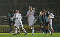 Jon Stead of Notts County celebrates his goal during the Sky Bet League 2 match between Wycombe Wanderers and Notts County at Adams Park, High Wycombe, England on 15 December 2015. Photo by Andy Rowland.