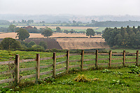 UK, England, Yorkshire.  Hazy Day September View from West Hauxwell.