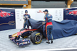 Toro Rosso's Jaime Alguersuari and sebastien Buemi unveil their car during Formula One official tests. February 01, 2011. (Vicente Llopis/Alfaqui)