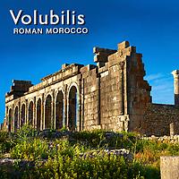 Photos of Volubilis Roman Archaeological Site. Morocco.