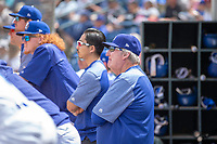 Los Angeles Dodger Senior Advisor, Player Development Charley Hough, in the dugout during the game against the Visalia Rawhide at LoanMart Field on May 13, 2018 in Rancho Cucamonga, California. The Quakes defeated the Rawhide 3-2.  (Donn Parris/Four Seam Images)