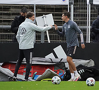 Co-Trainer Marcus Sorg (Deutschland Germany) und Julian Draxler (Deutschland, Germany) <br /> - 05.10.2020: Training der Deutschen Nationalmannschaft, Suedstadion Koeln<br /> DISCLAIMER: DFB regulations prohibit any use of photographs as image sequences and/or quasi-video.