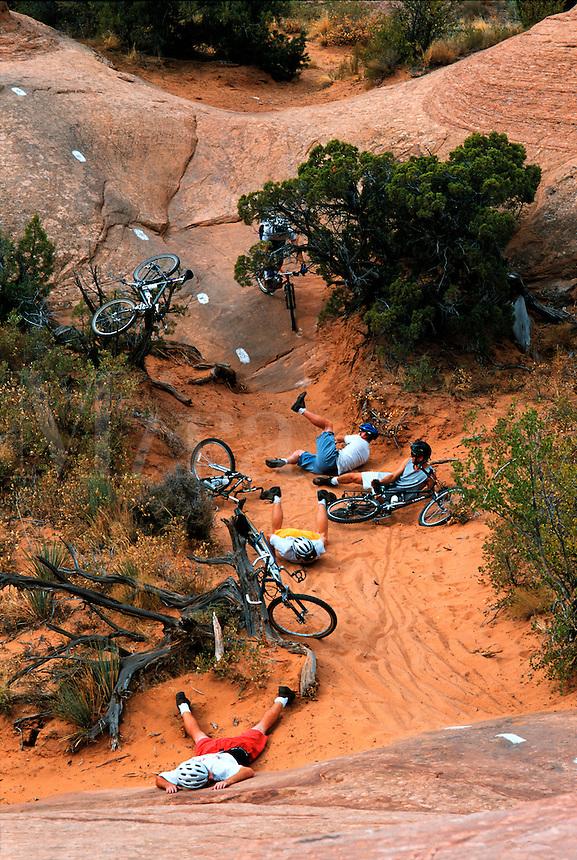 Mountainbike wipeout.